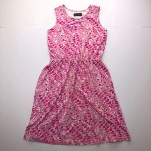 ​Salon Studio Size MP Pink Floral Sleeveless Dress